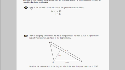 Thumbnail for entry MCAS Math 2010 Page 06