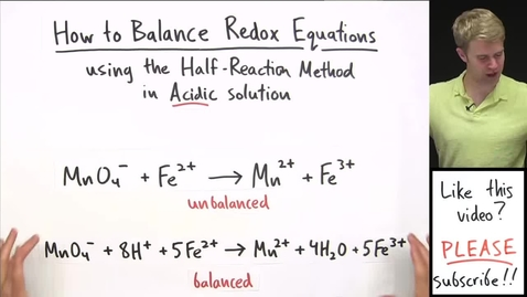 Thumbnail for entry How to Balance Redox Equations in Acidic Solution