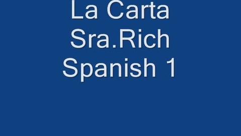 Thumbnail for entry La carta
