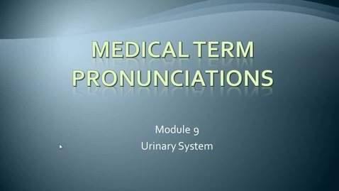 Thumbnail for entry mod 9 pronunciations