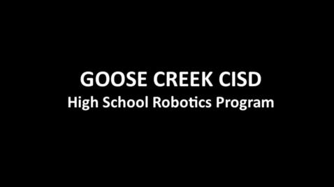 Thumbnail for entry GCCISD High School Robotics Information Meeting