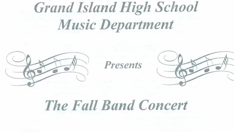 Thumbnail for entry GIHS Fall Band Concert 11-6-2017