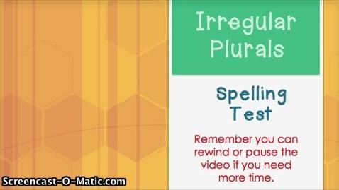 Thumbnail for entry EOY- 3- Irregular Plurals