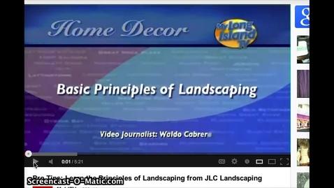 Thumbnail for entry Landscape Design Principles Examples Video Clip