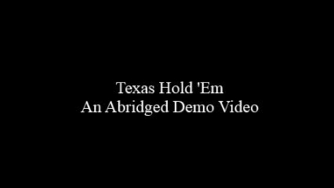 Thumbnail for entry Demonstration Video - How to play Texas Hold 'Em