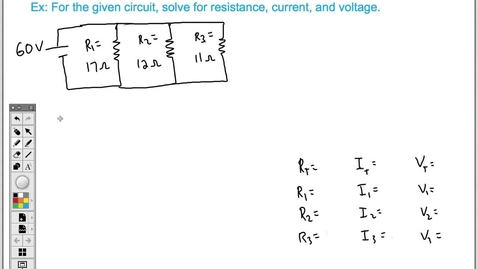 Thumbnail for entry How to Solve a Parallel Circuit (Easy)
