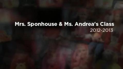 Thumbnail for entry Mrs. Sponhouse Kindergarten Class 2012-2013