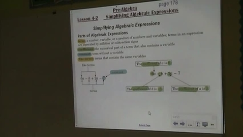 Thumbnail for entry PA Lesson 4-2 Simplifying Algebraic Expressions Part 1