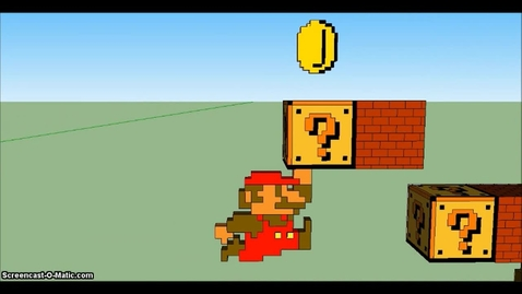 Thumbnail for entry 3D Super Mario in Google Sketchup