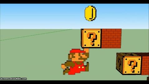 Thumbnail for entry 3D Super Mario in Google Sketchup