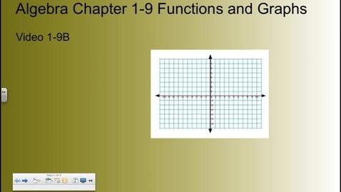 Thumbnail for entry Algebra Chapter 1-9B  Video B
