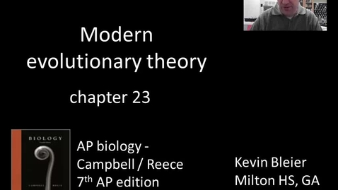Thumbnail for entry Modern evolutionary forces