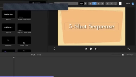 Thumbnail for entry 5-Shot Sequence Goble DEMO 2 for iMovie