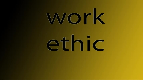 Thumbnail for entry Work Ethic - WSCN (Warren Acronym 2017/2018)