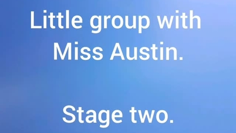 Thumbnail for entry Rain. Little group with Miss Austin