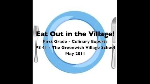 Thumbnail for entry Eat Out in the Village