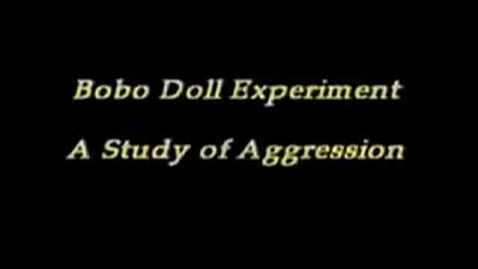 Thumbnail for entry Bobo Doll Experiment