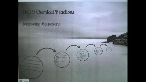 Thumbnail for entry Unit 9- Balancing reactions