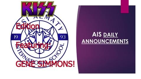 Thumbnail for entry QSI AIS Announcements March 8-12