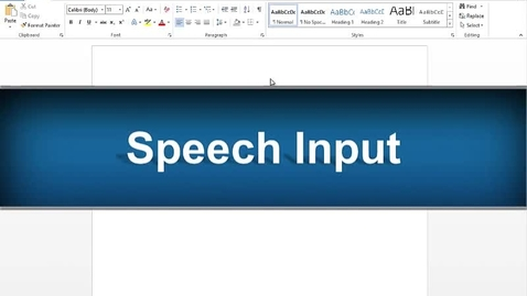Thumbnail for entry Speech Input Feature - Read&Write Gold Version 11