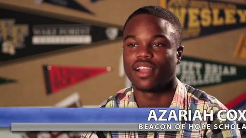 Thumbnail for entry Beacon of Hope Scholar: Azariah Cox