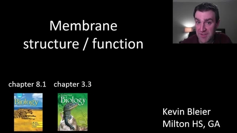 Thumbnail for entry Membrane structure and function