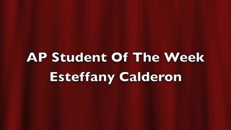 Thumbnail for entry Student of the Week #1 - Esteffany