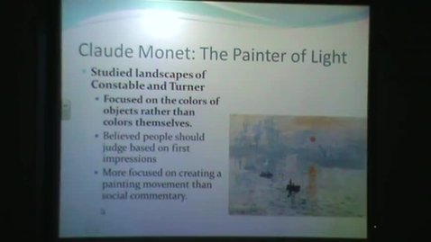 Thumbnail for entry Impressionist Artists: Monet to Morisot