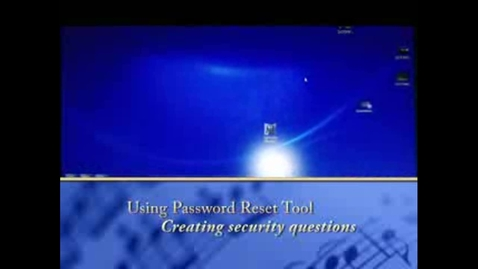 Thumbnail for entry Password Resset and Security Questions