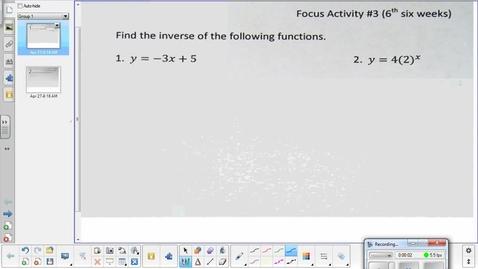 Thumbnail for entry Hyperbola lesson pt 2   4-27-15