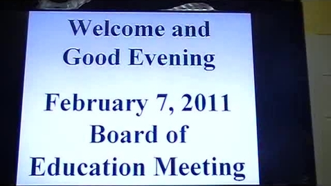 Thumbnail for entry GMME TV (2-7-11) BOE Meeting