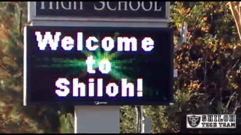 Thumbnail for entry Shiloh High School Marquee Sign On Bethany Church Road