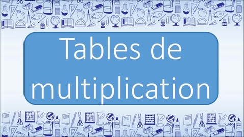 Thumbnail for entry Multiplication   Table de 4