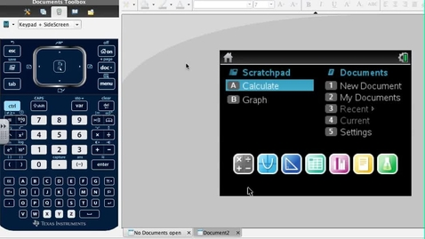 Thumbnail for entry Testing for Parallel using the Systems Solver in the TI Nspire