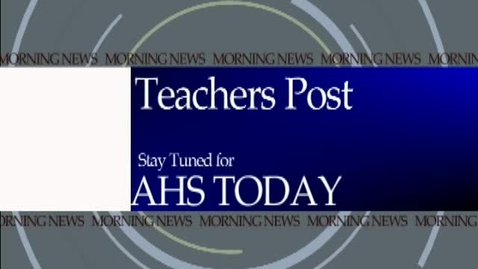 Thumbnail for entry February 21, 2012 AHS Today