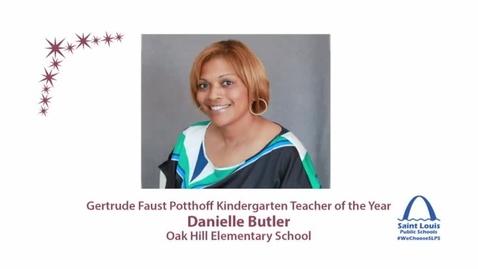 Thumbnail for entry Kindergarten Teacher of the Year, Danielle Butler