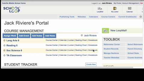 Thumbnail for entry School Loop Teacher Gradebook Transition to a New Quarter