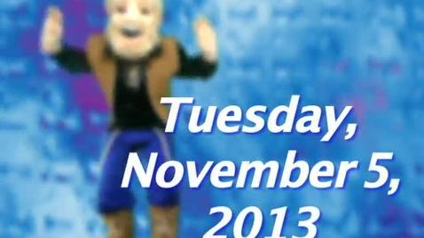 Thumbnail for entry Tuesday, November 5, 2013