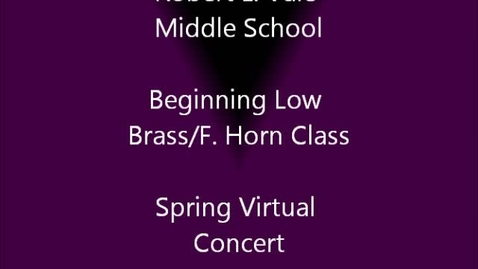 Thumbnail for entry 7th period Beg. Low Brass & Horn