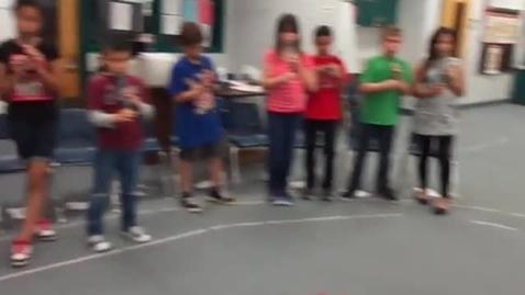 "Thumbnail for entry Ms. Goss' 5th grade class ""Improvisation"""