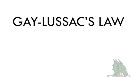 Thumbnail for entry Gay-Lussac's Law