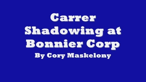 Thumbnail for entry Carrier Shadowing at Bonnier Corp.