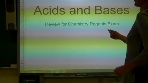 Thumbnail for entry Acids and Bases Review