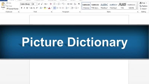 Thumbnail for entry Picture Dictionary Feature - Read&Write Gold Version 11