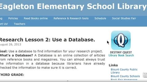 Thumbnail for entry Fourth Grade Social Studies Databases instructions