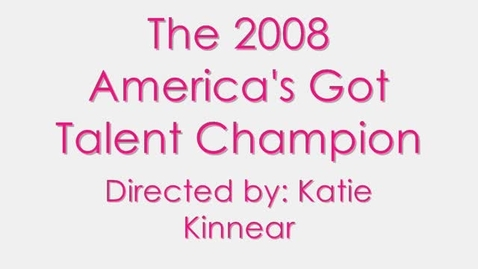 Thumbnail for entry The 2008 America's Got Talent Champion