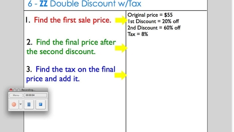 Thumbnail for entry Double Discount with Tax