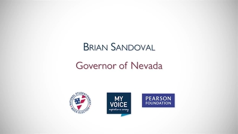 Thumbnail for entry My Voice NSME 2012 PSA: Brian Sandoval, Governor of Nevada