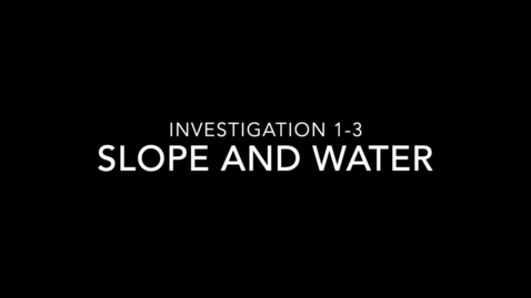 Thumbnail for entry Water Investigation 1-3