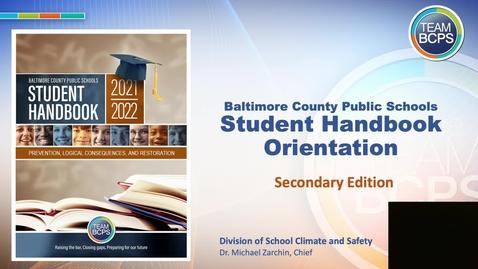 Thumbnail for entry 2021-2022 Student Handbook Presentation